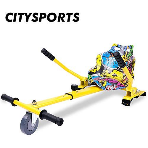 CITYSPORTS Hoverkart con Sedile, Hovercart Regolabile per Hoverboard, Compatibile per Hoverboard da...