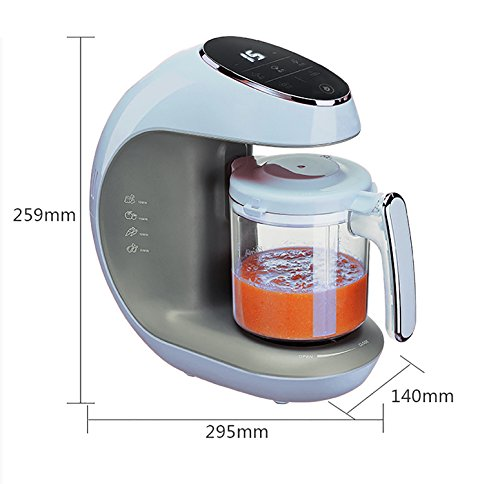 Kiddale ABS 5 in 1 Smart Food Processor with Intelligent Smart Touch Panel, Anti-Dry Protection, Disinfect and Auto-Shut Off Feature
