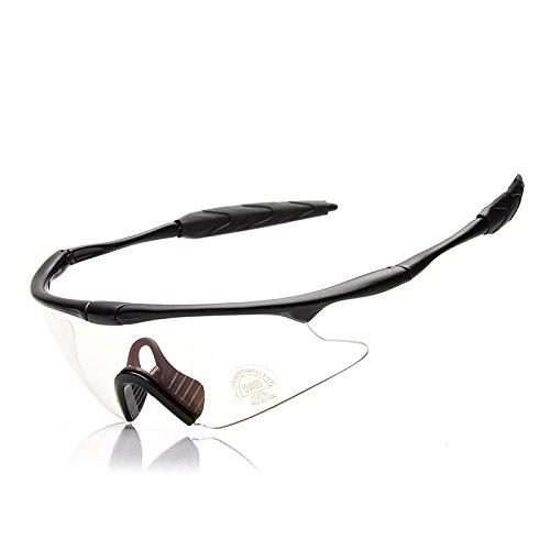 TK- Gafas de sol para deportes al aire libre, ciclismo, running, conducción, carreras, gafas de esquí, escalada, caza, pesca, lente transparente