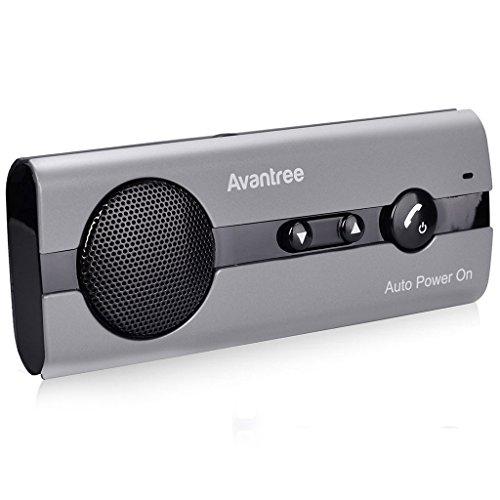 Avantree 10BS Kit Vivavoce Bluetooth da Auto con sensore Movimento per Aletta Parasole, Senza Fili...