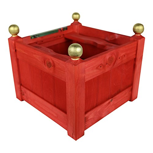 15'' Classic Wooden Christmas Tree Stand (Red)