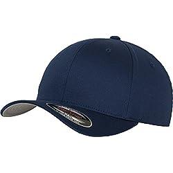 Flexfit Erwachsene Mütze Wooly Combed, navy, Gr. S/M