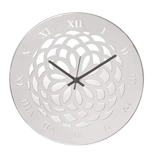 Orologio, in argento e legno, da 38 cm