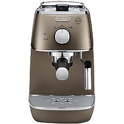 De'Longhi Distinta Cafetera Espresso Manual para café molido y monodosis ESE, 1050 W, 2 Cups, Acero Inoxidable, Bronce