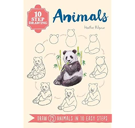 10 Step Drawing Animals Draw 75 Animals In 10 Easy Steps Amazon Co Uk Kilgour Heather Books