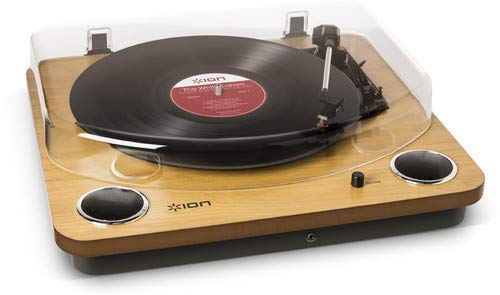 ION - Max LP Wood I Giradischi Convertitore E Bluetooth Integrato I Conversione USB Vinile In File...
