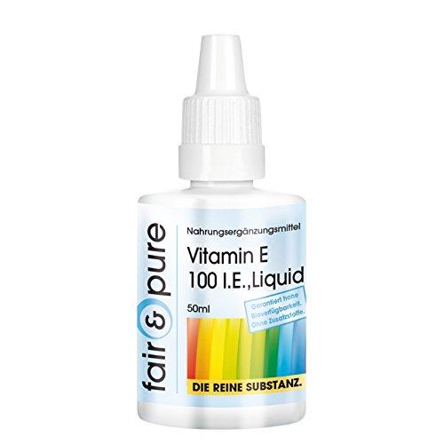 Vitamina E liquida pura 50ml 100 ui - Antiossidante - Vegan