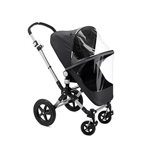 Bugaboo - Protector de lluvia de alta calidad para silla de paseo y capazo cameleon negro/transparente