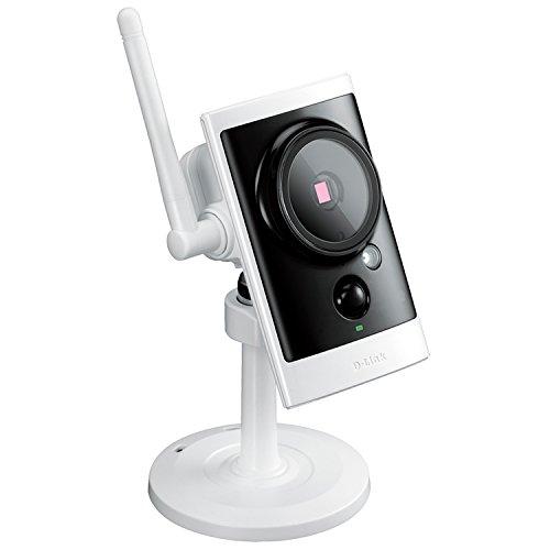 D-Link DCS-2330L Videocamera di Sorveglianza da Esterno, HD, Wi-Fi, Visore Notturno, Rilevamento Suoni e Movimenti, Notifiche Push, Bianco