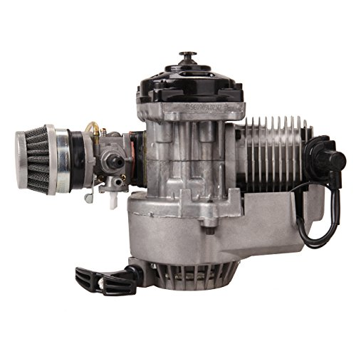 Ridgeyard 49CC Mini Moto 2 Stroke Engine Carb Filtro Aria Head Mini motore Dirt Bike Quad Pocket...