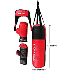 SportSoul KDBS1 Boxing Kit, 17-inch (Red/Black)