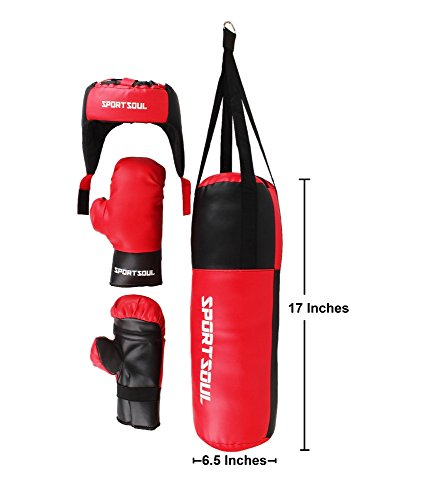 SportSoul KDBS1 Boxing Kit, 17-inch (Red/Black)
