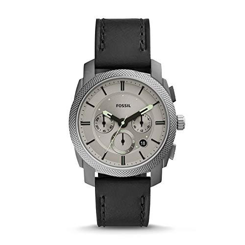 Fossil Machine Analog Grey Dial Men's Watch-FS5482