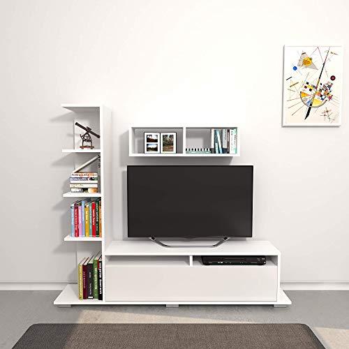 THETA DESIGN by Homemania Porta TV, Mobile TV Argo, Bianco