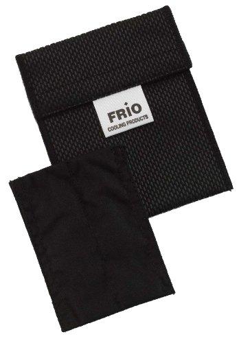 Frio una coppia di mini dispositivo di raffreddamento per l'insulina, 7 x 10 cm, Nero