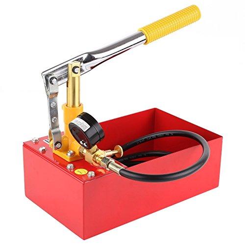 Promotion Cadeau Noël (-10%) FIXKIT Pompe d'essai de Pression Pompe d'epreuve de Pression pour Fuite de Chauffage de 5 Litres-40bar