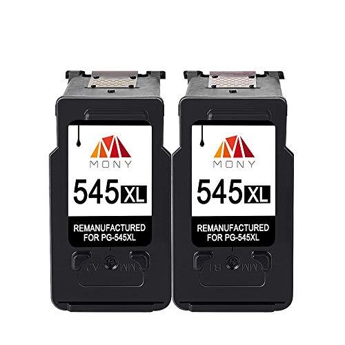 Mony Rigenerata Cartuccia d'inchiostro per Canon PG-545 XL PG-545XL (2 Nero) ad Alta Capacità...