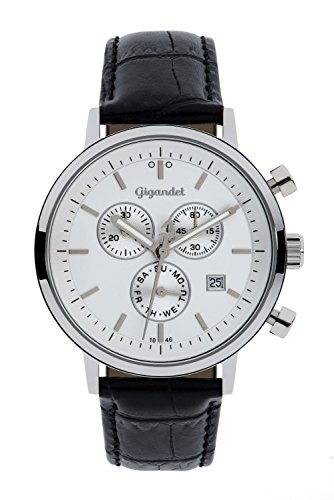 Gigandet Classico Orologio Uomo Cronografo Analogico Quartz Nero Bianco G6-001