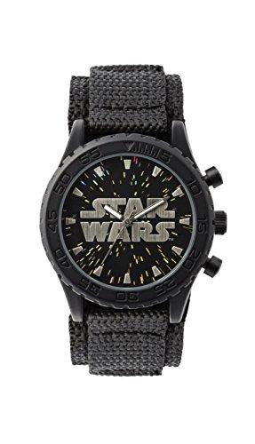 Star Wars Jungen Analog Quarz Uhr mit Nylon Armband STW1301