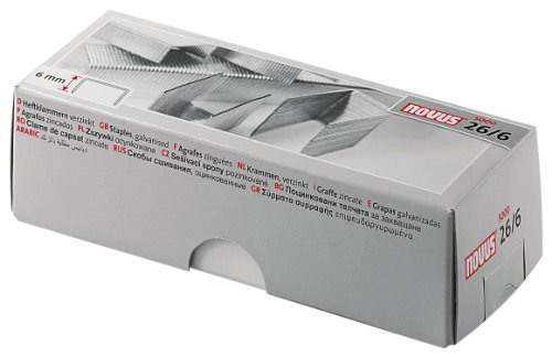 Novus - Punti metallici 26/6 Light, 5000 pezzi