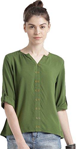 J B Fashion Women's Plain Regular Fit Top (D NO-85-M-1_Green_Medium)