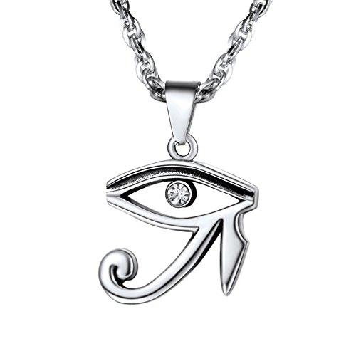 Collar amuleto con propiedades de protección Ojo de Horus, sencillo y elegante