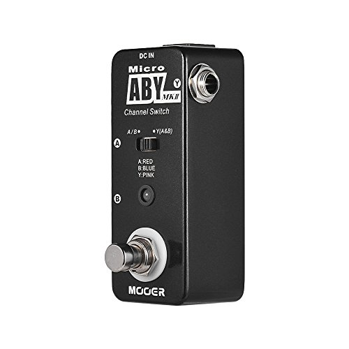 Festnight Guitar Effect Pedal, ABY MKII Channel Switch Guitar Effector True Bypass