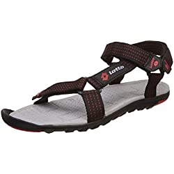 41c8045dfe16 Lotto Men s Lotto Sports Sandals Grey and Red Sandals and Floaters - 7 UK  India