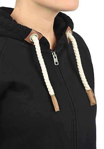 DESIRES Matilda Damen Sweatjacke Kapuzen-Jacke ZIp-Hoodie aus hochwertiger Baumwollmischung, Größe:M, Farbe:Black (9000) - 4