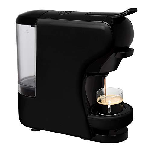 IKOHS Macchina per caffè Espresso Italiano - caffettiera Multi Capsule Nespresso 3 in 1, Macchina per Caffè Espresso, 0,7 litri, 19 bar, 1450 W (Nero)