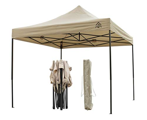 The 3 x 3m unit is fully waterproof making it convenient for people to host events whether it's raining or sunny. Because of its affordable price and great features such as the 1-minute setup, the gazebo has won a lot of people over. You can additionally get this gazebo in various colours to match your colour scheme. All in all, it is a structurally sound unit that comes with its own carriage bag for convenience. You can carry it to wherever you are going and have a great time.