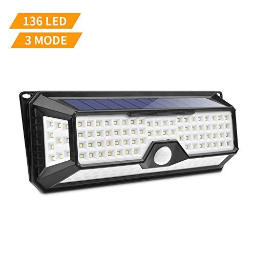 Luce Solare LED Esterno,Lacyie 136LED Lampade Solare da Esterno con Sensore di...