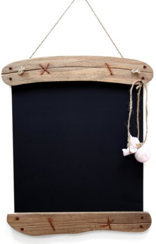 Driftwood Memo Blackboard ~ Shabby Chic Hanging Chalkboard 28 X 39Cm by Carousel Home
