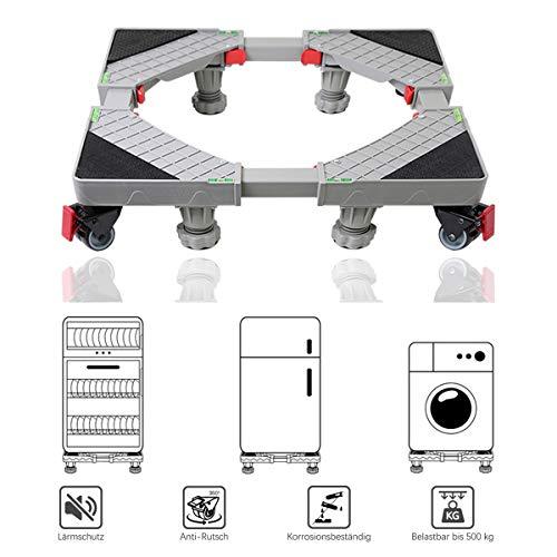 Allesin Lavatrice Regolabile Base del Basamento Lavatrice Asciugatrice Carico 500kg Freno...