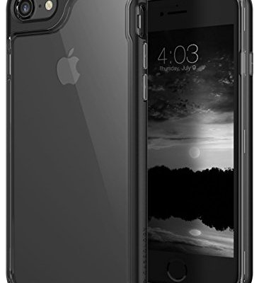 Caseology Custodia iPhone 8, [Serie Skyfall] Cover, Sottile Assorbimento d'Urto Protettiva TPU Robusta Protezione Tattile Aderenza [Nero – Black] per Apple iPhone 8 (2017) / 7 (2016)