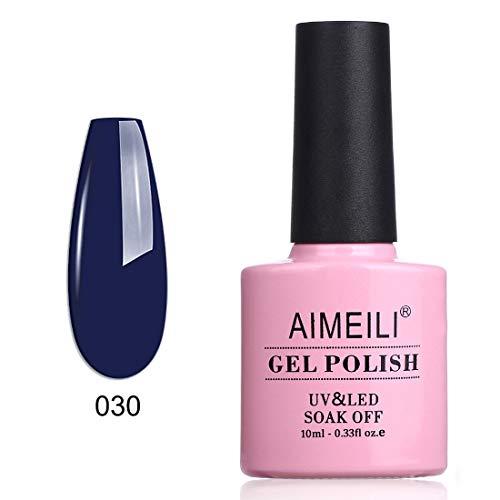 AIMEILI Smalto Semipermente per Manicure Smalti per Unghie in Gel Soak Off UV LED - Navy Seals (030)...