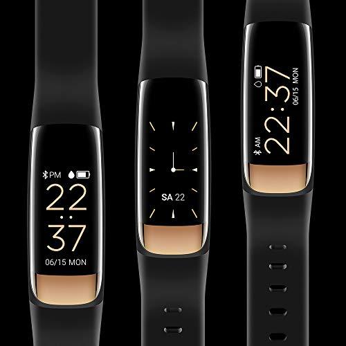 siroflo Fitness Tracker, Montre Connectée Tracker d'Activité IP67 étanche, Smartwatch Bracelet Bluetooth Podomètre avec Moniteur de Sommeil/... 30