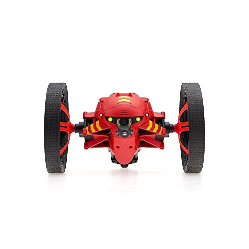 Parrot Minidrone Jumping Night Marshall con luci LED e Microfono, Rosso