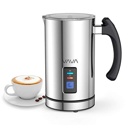 Montalatte Elettrico VAVA Schiumatore Acciaio Inox Caffè Latte Caldo Freddo Antiaderente Controllo...