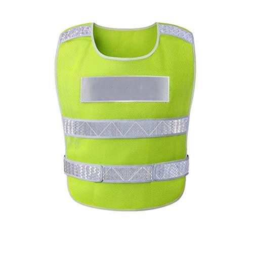 FLYSXP Chaleco Reflectante Coche Con Cuello En V Chaleco Edificio Sanitario Cinturón Reflectante, Verde Fluorescente. Chalecos reflectantes