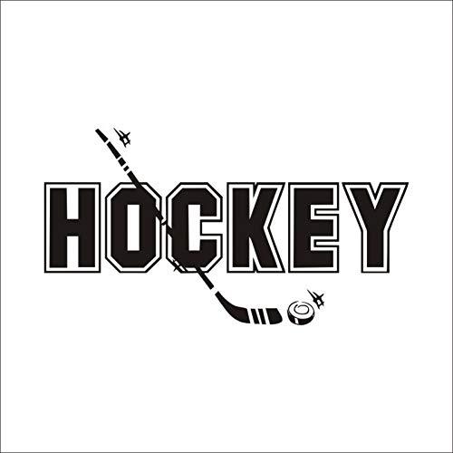 GKLCEF Adesivo Murale Hockey Baseball Bat Adesivi Murali in Vinile Divertenti Sport Stickers Murali...