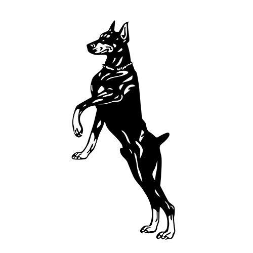 Snjlm Jumping Doberman Vinile Wall Sticker Animali Home Decor Dog Rimovibile Impermeabile Wall Art...
