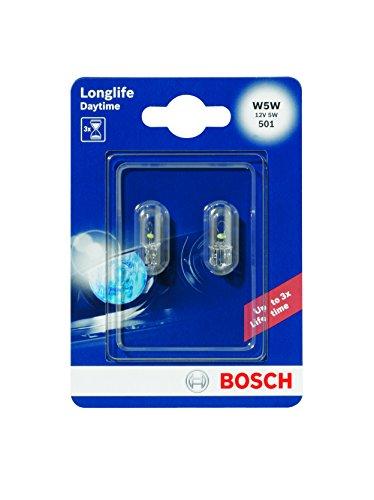 Bosch 1987301052 - Lampadina per auto W5W Longlife, per lampade con base in vetro e lampade Miniwatt