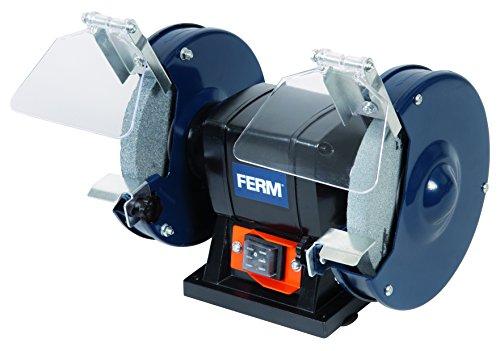 FERM Doppelschleifmaschine 150W - 150mm - Incl. P36 und P60 Schleifsteinen, Schutzbrille und Funkenfänger