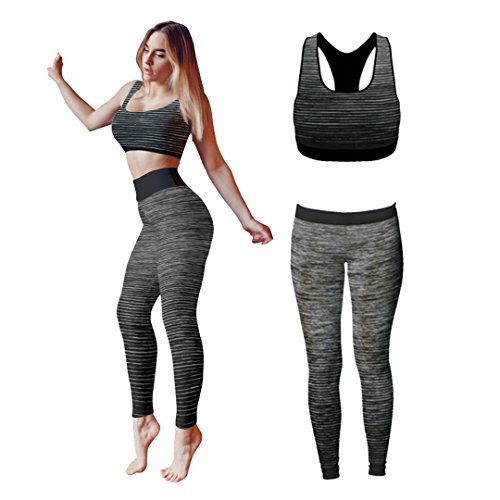 e3902e809e850b ... Bonjour® Women s Sportswear Wear   Vest and Crop Top   Leggings ( 2  Piece Set Top   leggings ) Stretch-Fit Yoga Gym Wear Set. Sale! On Sale