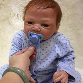 OREH Baby Dolls Magnética Regalo Juguete Suave Silicona Vinilo Realista Reborn Muñecas bebé niño 20 Pulgadas 50 cm…