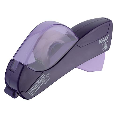 """Eagle Automatic Tape Dispenser And Tape Gun. FREE 1/2"""" (12mm) And 3/4"""" (19mm). Ideal for Taping Gifts, Packages, Scrapbooks and Envelopes (Purple)"""