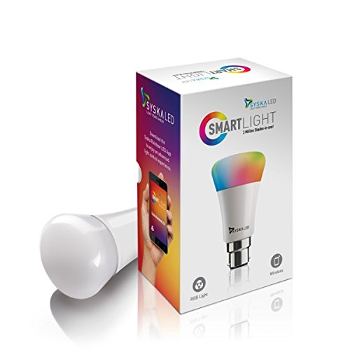 Syska 7-Watts B22 Base Smart Rainbow Light Bulb - (White) - 3 Million Shades-in-one !!