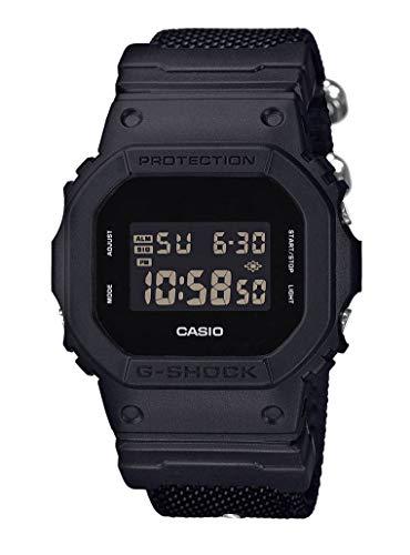 Casio G-Shock Digital Herrenarmbanduhr DW-5600BBN schwarz, Cordura Nylonarmband, 20 BAR