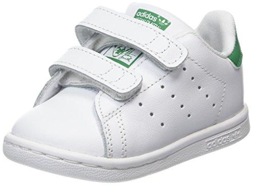 adidas Stan Smith CF I I, Scarpe da Fitness Unisex-Bambini, Bianco (Ftwbla/Verde 000), 23 EU
